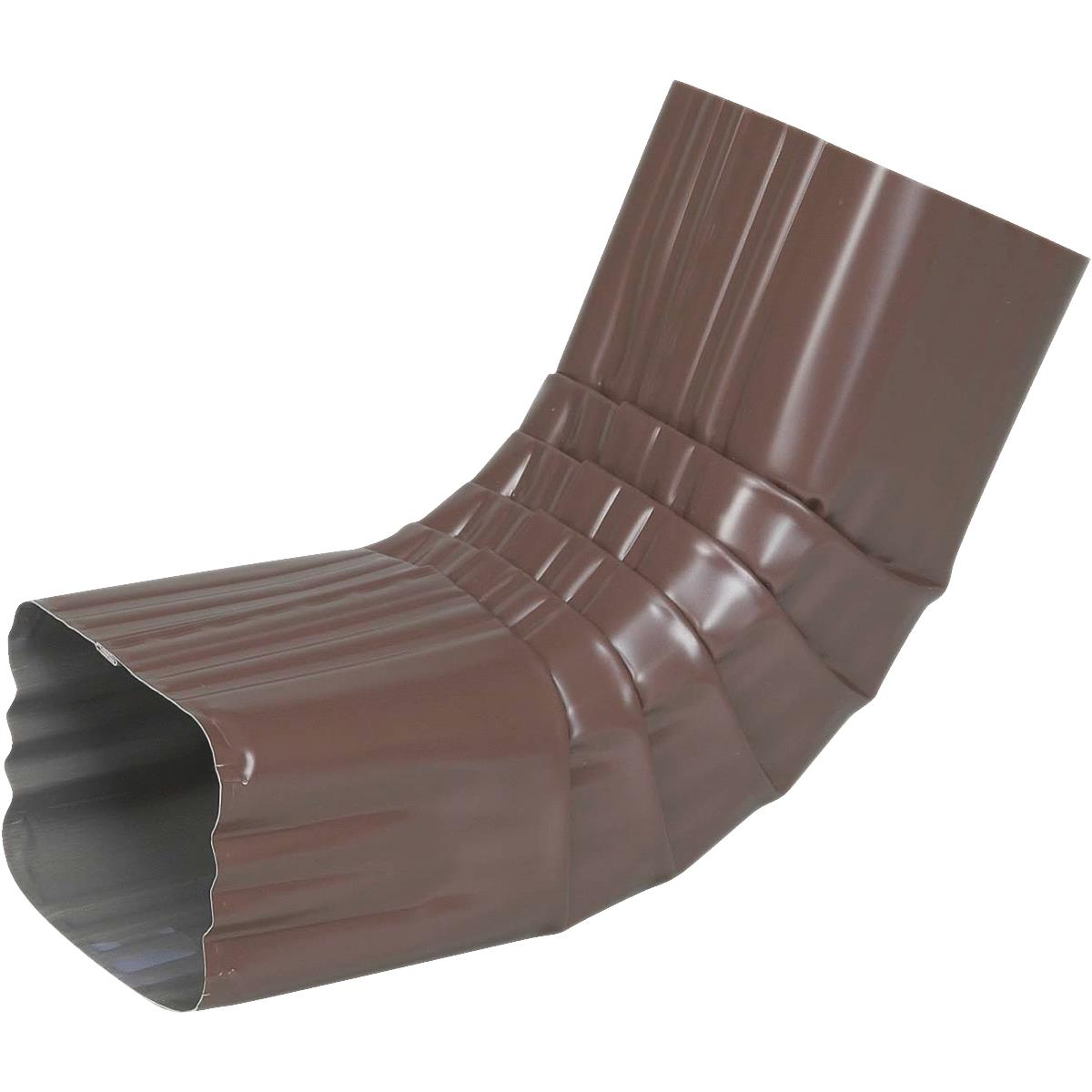 Spectra Metals 3 x 4 In 1 Each Aluminum Brown Side Downspout Elbow 4BELRTB