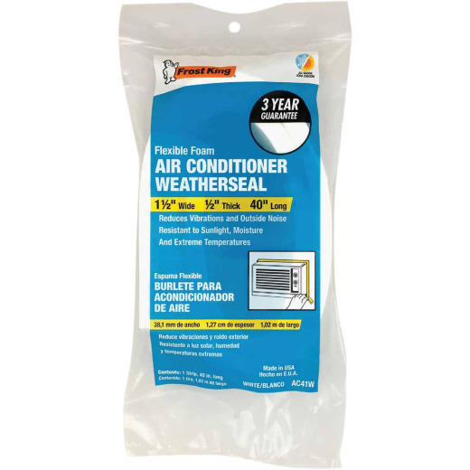 """Frost King 40"""" x 1-1/2"""" x 1/2"""" Air Conditioning Weatherstrip"""