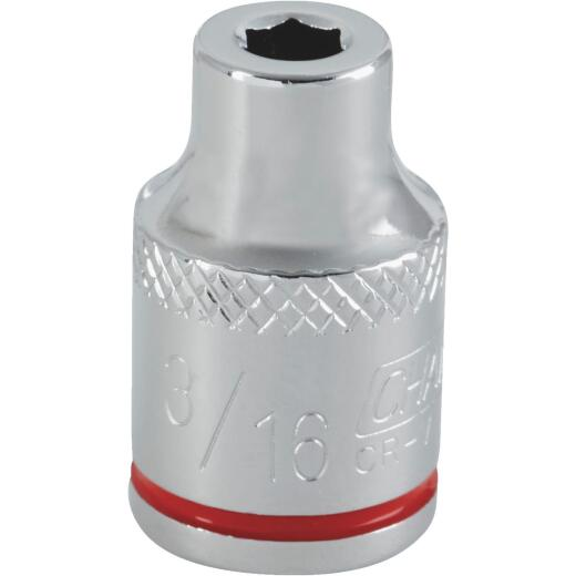 Channellock 3/8 In. Drive 3/16 In. 6-Point Shallow Standard Socket