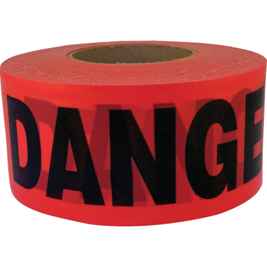 CH Hanson 3 In. x 1000 Ft. Roll 2 mil Red Danger/Caution Tape