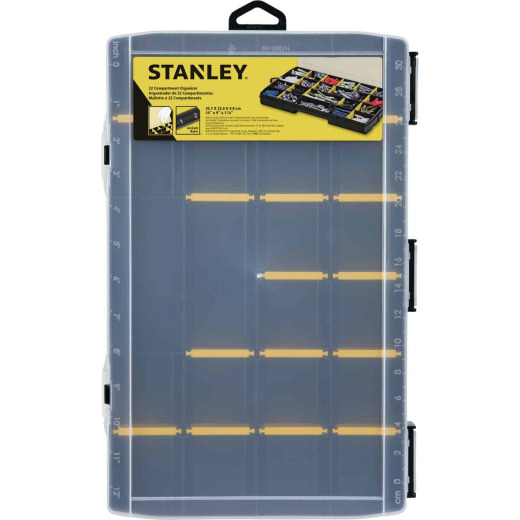 Stanley Black/Yellow Plastic 22-Compartment Tool Organizer