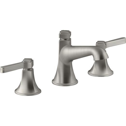 Kohler Georgeson Brushed Nickel 2-Handle Lever 8 In. to 16 In. Widespread Bathroom Faucet with Pop-Up