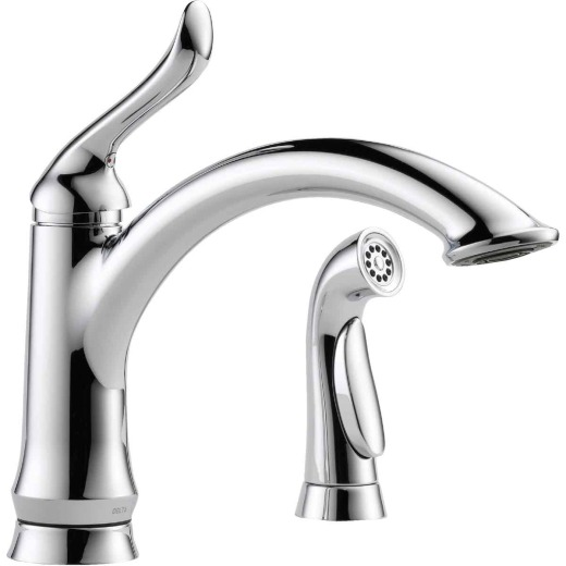 Delta Linden Single Handle Lever Kitchen Faucet with Side Spray, Chrome