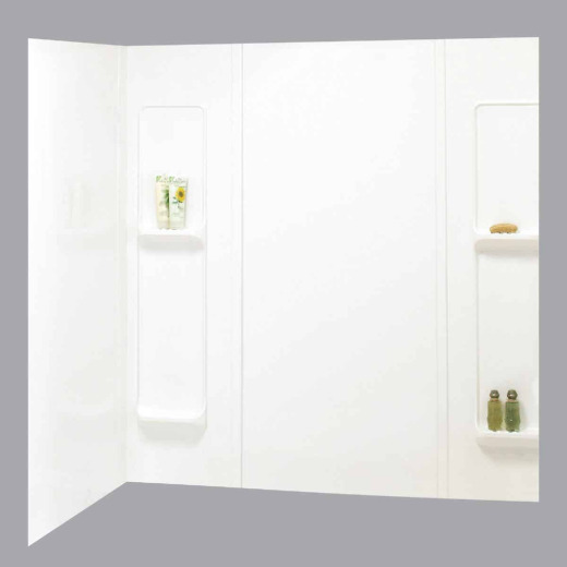 Maax Elan 5-Piece 59 In. H x 32 In. D Tub Wall Kit in White