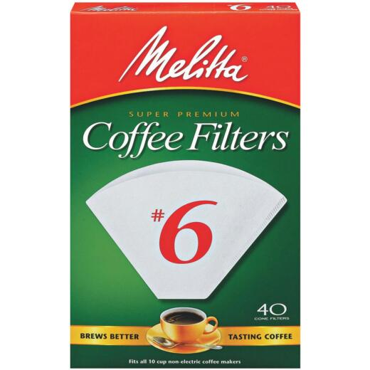 Melitta #6 Cone 8-12 Cup Coffee Filter (40-Pack)