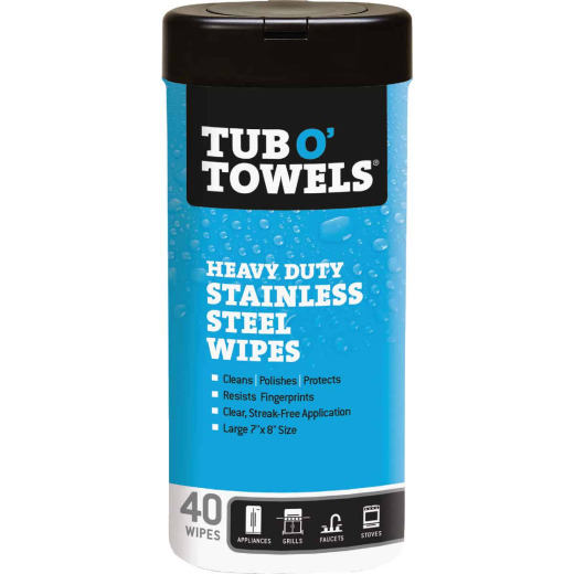 Tub O' Towels Heavy Duty Stainless Steel, 40-Ct.