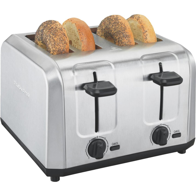 Hamilton Beach 4-Slice Brushed Stainless Steel Toaster Image 1