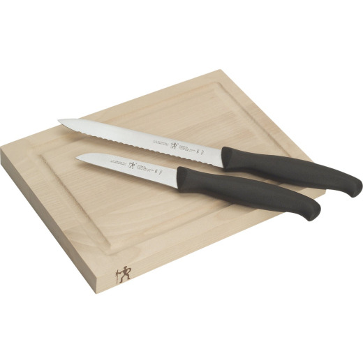 J.A. Henckels International Stainless Steel Bar Knife & Board Set (3-Piece)