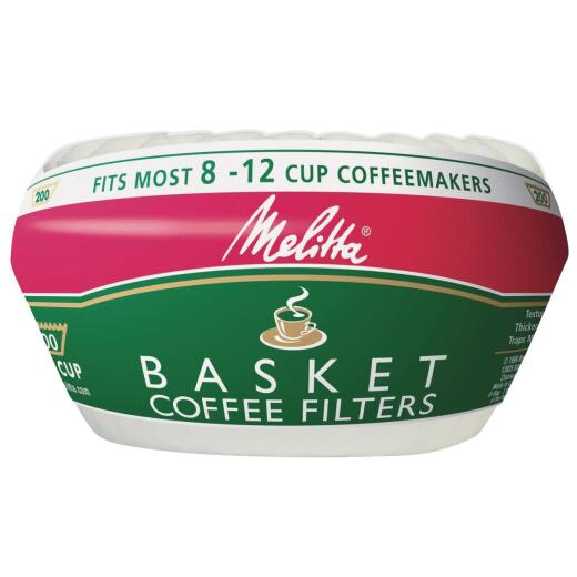 Melitta 8-12 Cup White Basket Coffee Filter (200-Pack)
