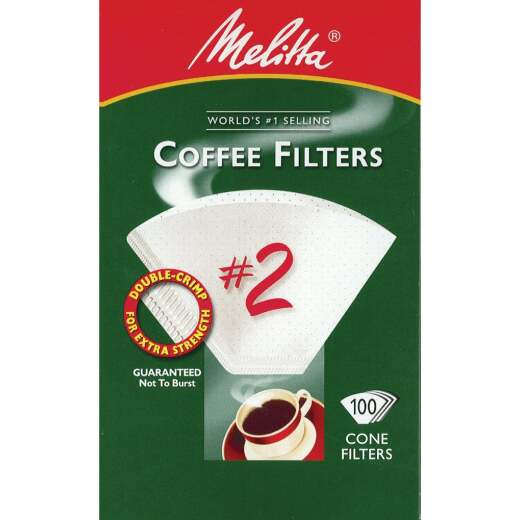 Melitta #2 Cone 4-6 Cup Coffee Filter (100-Pack)