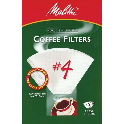 Melitta #4 Cone 8-12 Cup White Coffee Filter (40-Pack)
