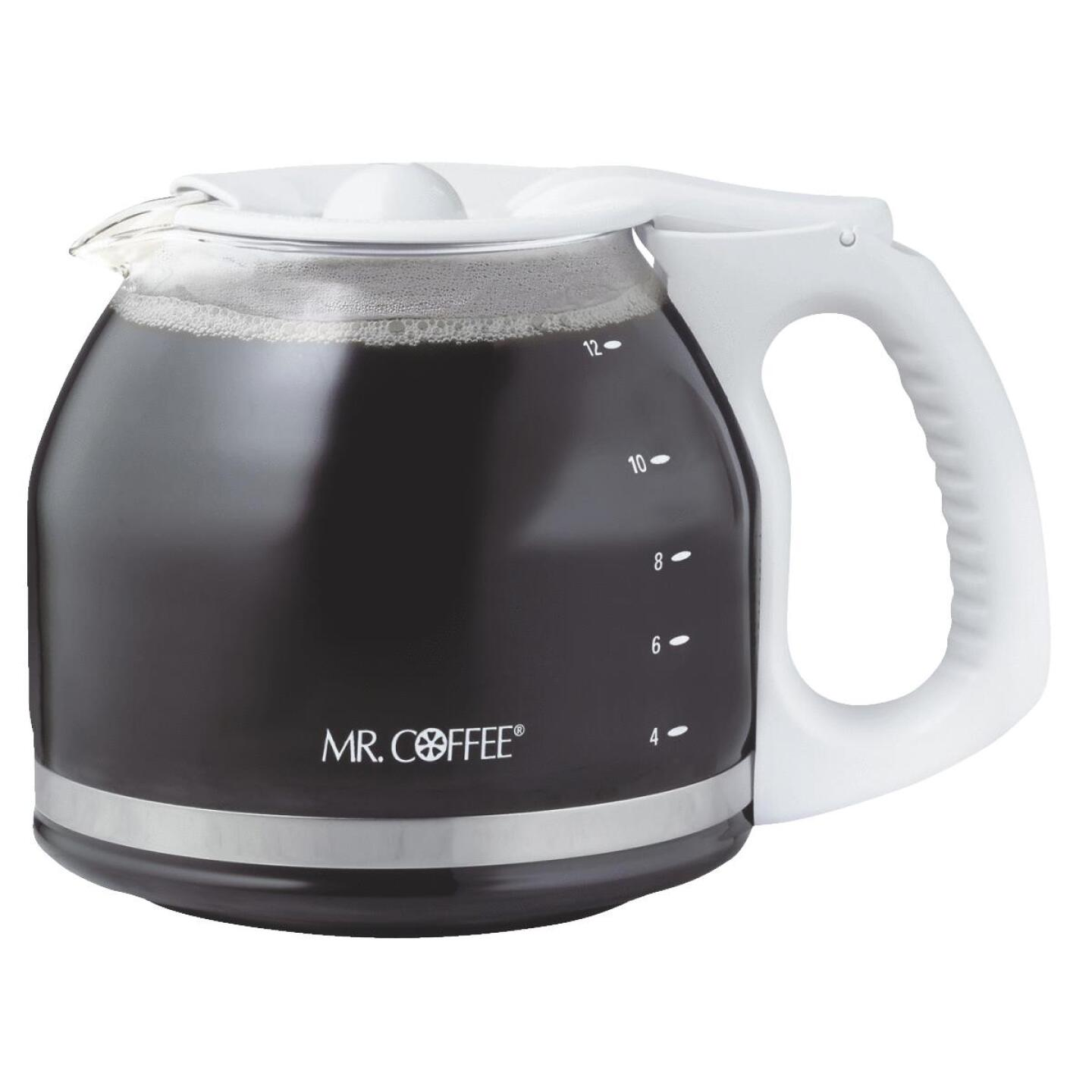 Mr. Coffee 12 Cup Replacement White Coffee Decanter Image 1