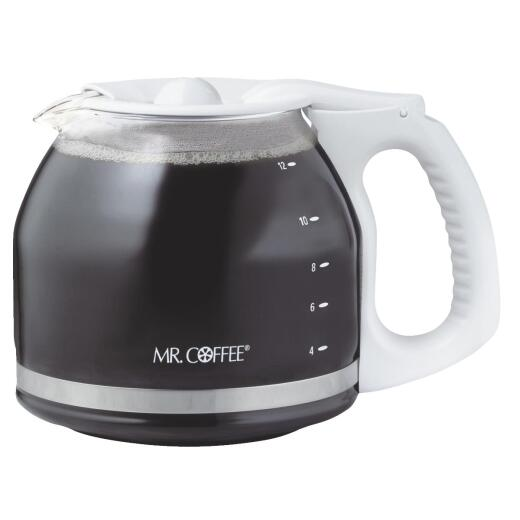 Mr. Coffee 12 Cup Replacement White Coffee Decanter