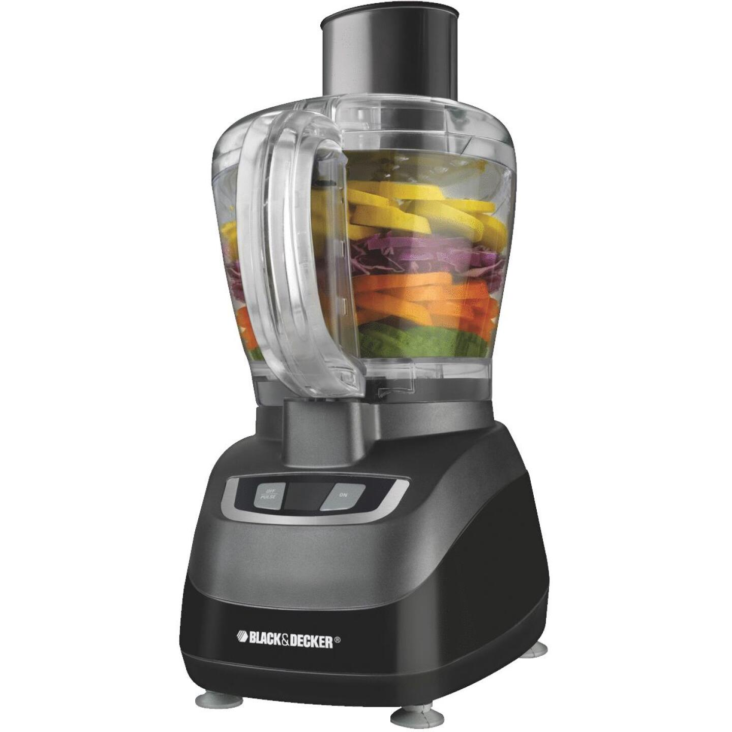 Black & Decker Quick 'N Easy 8-Cup Black Food Processor Image 1