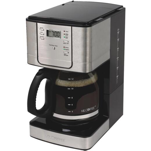 Mr Coffee 12 Cup Programmable Stainless Steel Coffee Maker