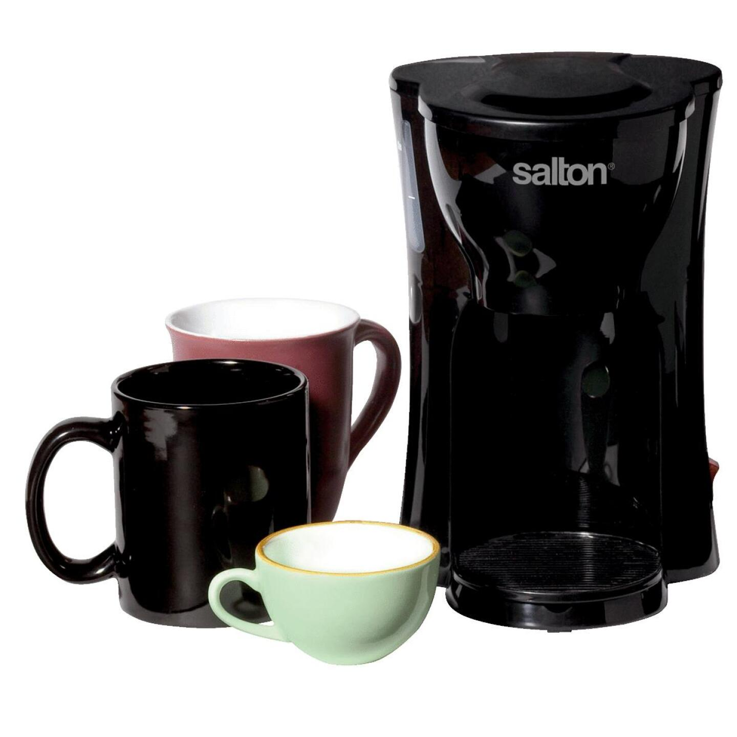 Salton 1-Cup Black Space Saving Coffee Maker Image 1