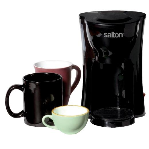 Salton 1-Cup Black Space Saving Coffee Maker
