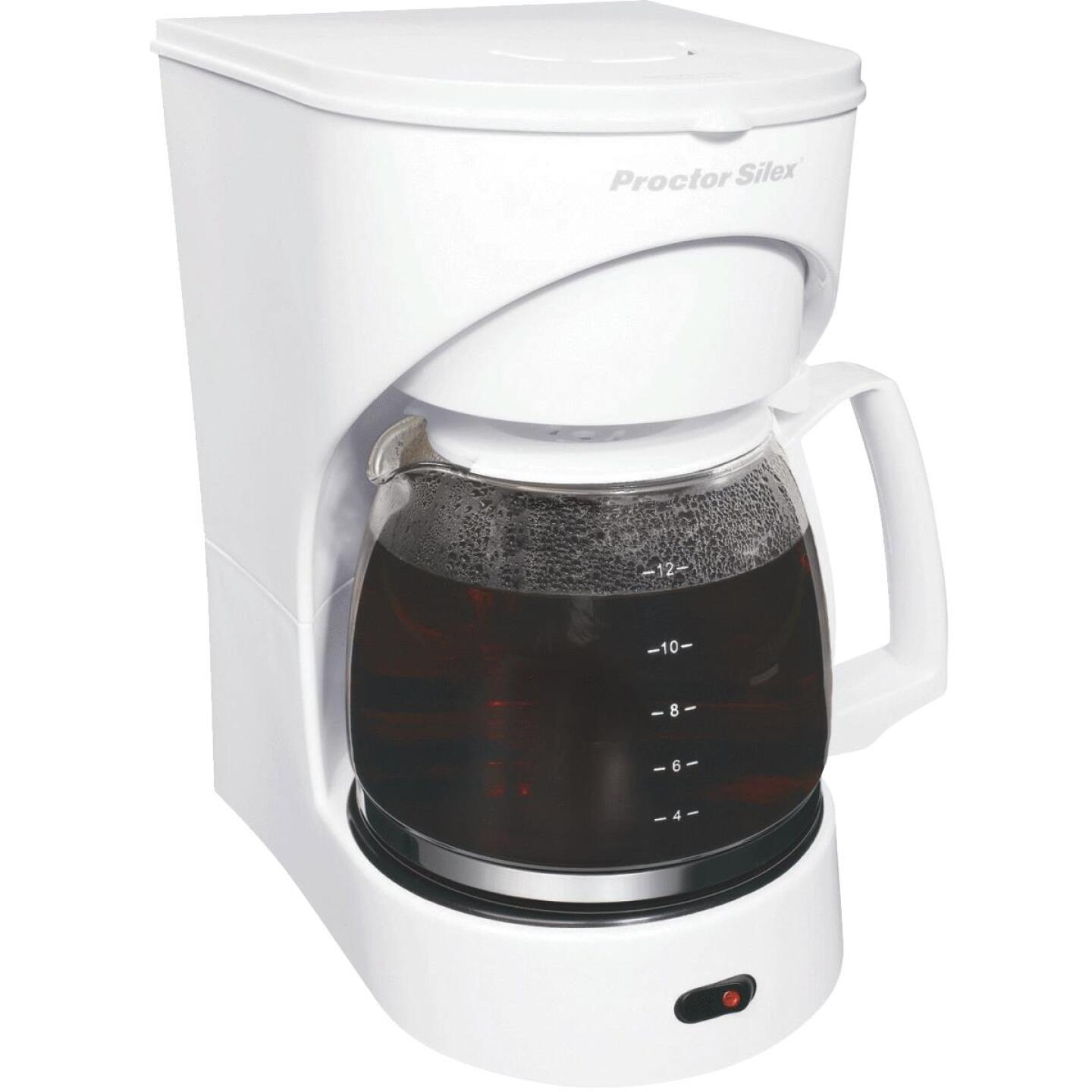 Proctor-Silex 12 Cup White Coffee Maker Image 4