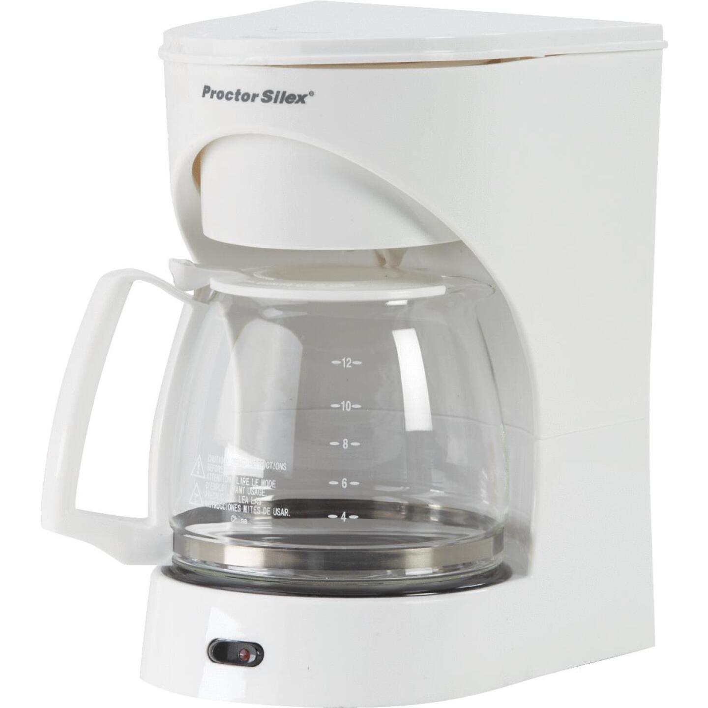 Proctor-Silex 12 Cup White Coffee Maker Image 1
