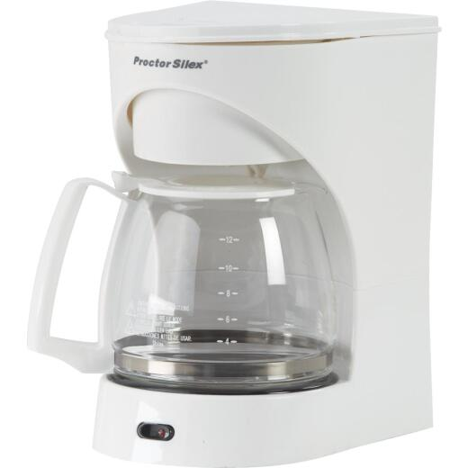 Proctor-Silex 12 Cup White Coffee Maker