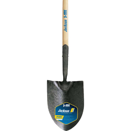 Jackson Pony J-450 Series 47 In. Wood Handle Round Point Contractor Shovel