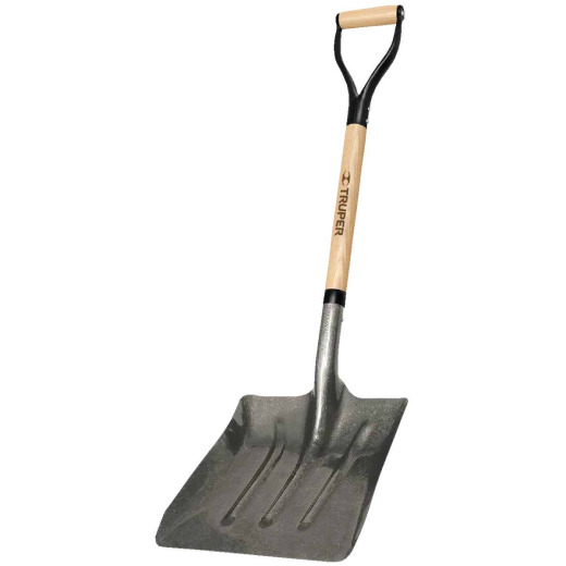 Truper 27 In. Wood D-Grip Handle Steel Scoop Shovel