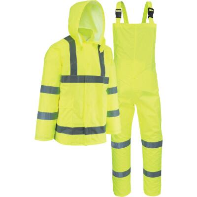 West Chester 2XL 3-Piece Hi-Vis Yellow Rain Suit
