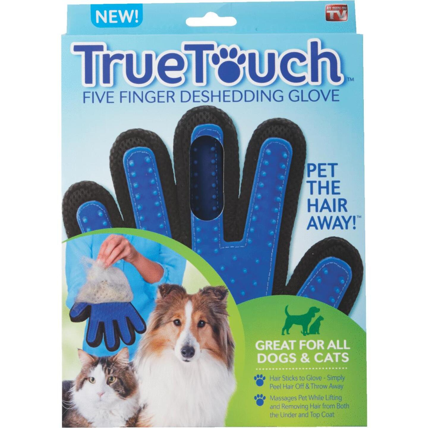 True Touch Silicone Tip Five Finger Deshedding Pet Glove Image 2