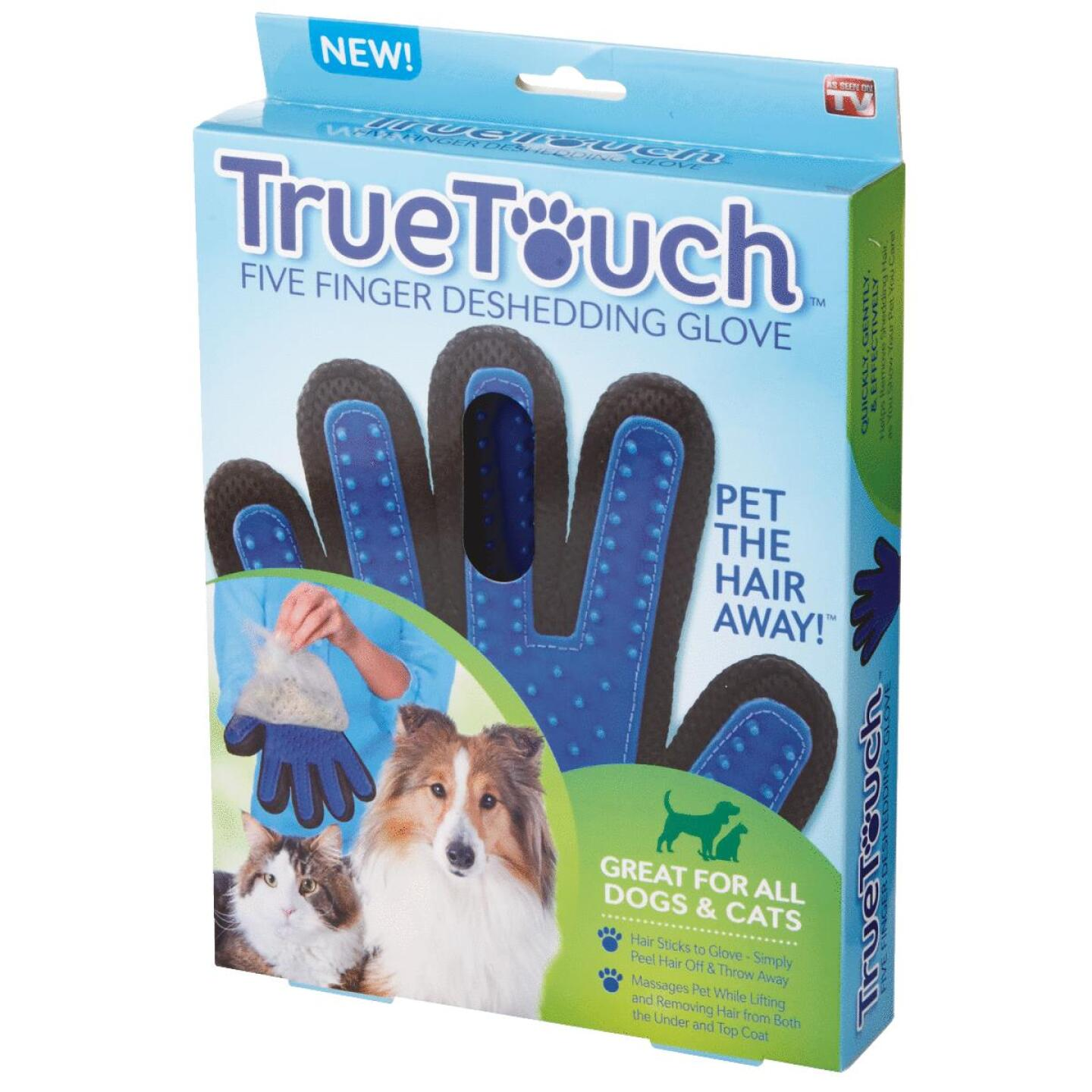 True Touch Silicone Tip Five Finger Deshedding Pet Glove Image 4
