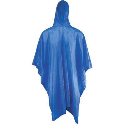 West Chester 50 In. x 80 In. Blue Rain Poncho
