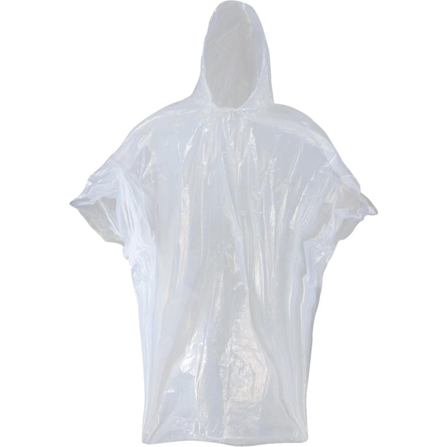 West Chester 50 In. x 80 In. Clear Disposable Rain Poncho Image 1