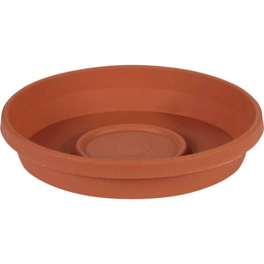 Bloem 8 In. Terracotta Poly Classic Flower Pot Saucer