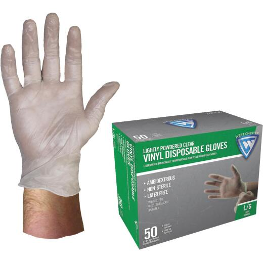West Chester Large Vinyl Disposable Glove (50-Pack)