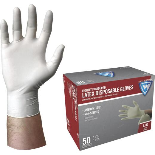 West Chester Large Latex Disposable Glove (50-Pack)