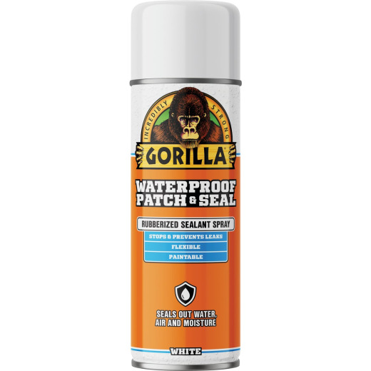 Gorilla 14 Oz. White Waterproof Patch & Seal Spray