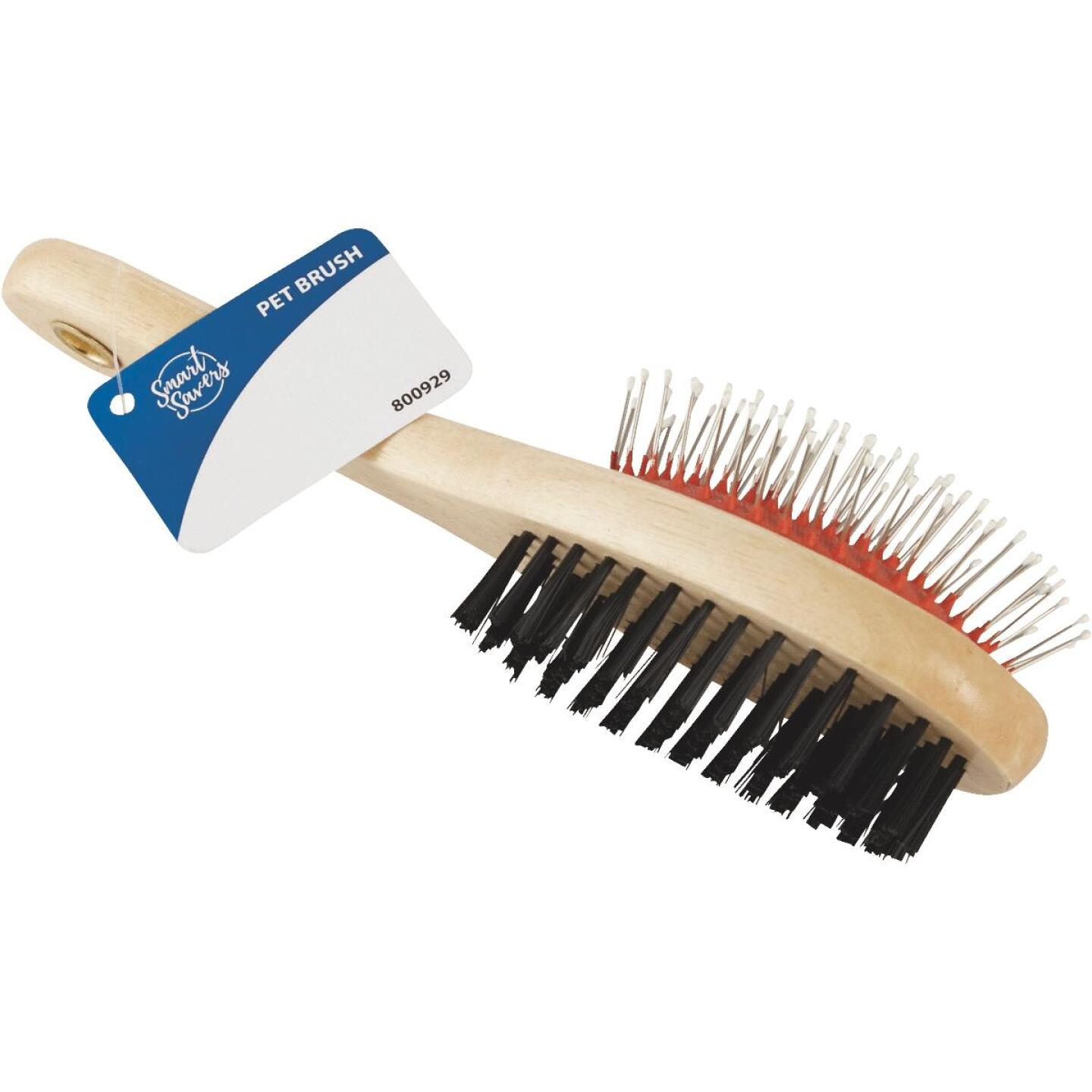 Smart Savers Plastic & Metal Bristle Pet Brush Combo Image 1