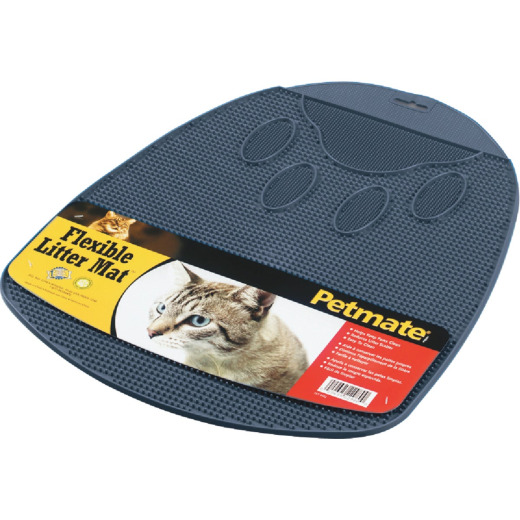 Petmate 13-1/2 In. x 14 In. x 1 In. Flexible Rubber Litter Mat