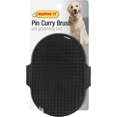Westminster Pet Ruffin' it Plastic Palm Grooming Pet Brush