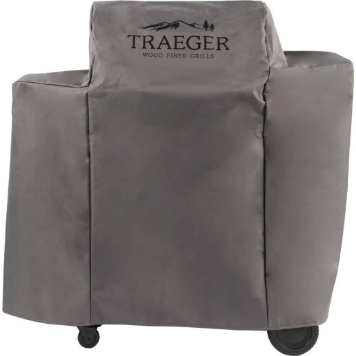Traeger Ironwood 650 46 In. Gray Hydrotuff Full-Length Grill Cover