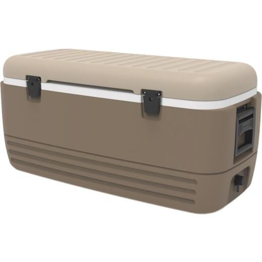 Igloo MaxCold Sportsman 120 Qt. Cooler, Riverbed Tan & Canyon Brown