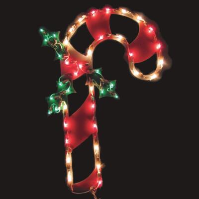 J Hofert 18 In. Incandescent Lighted Candy Cane