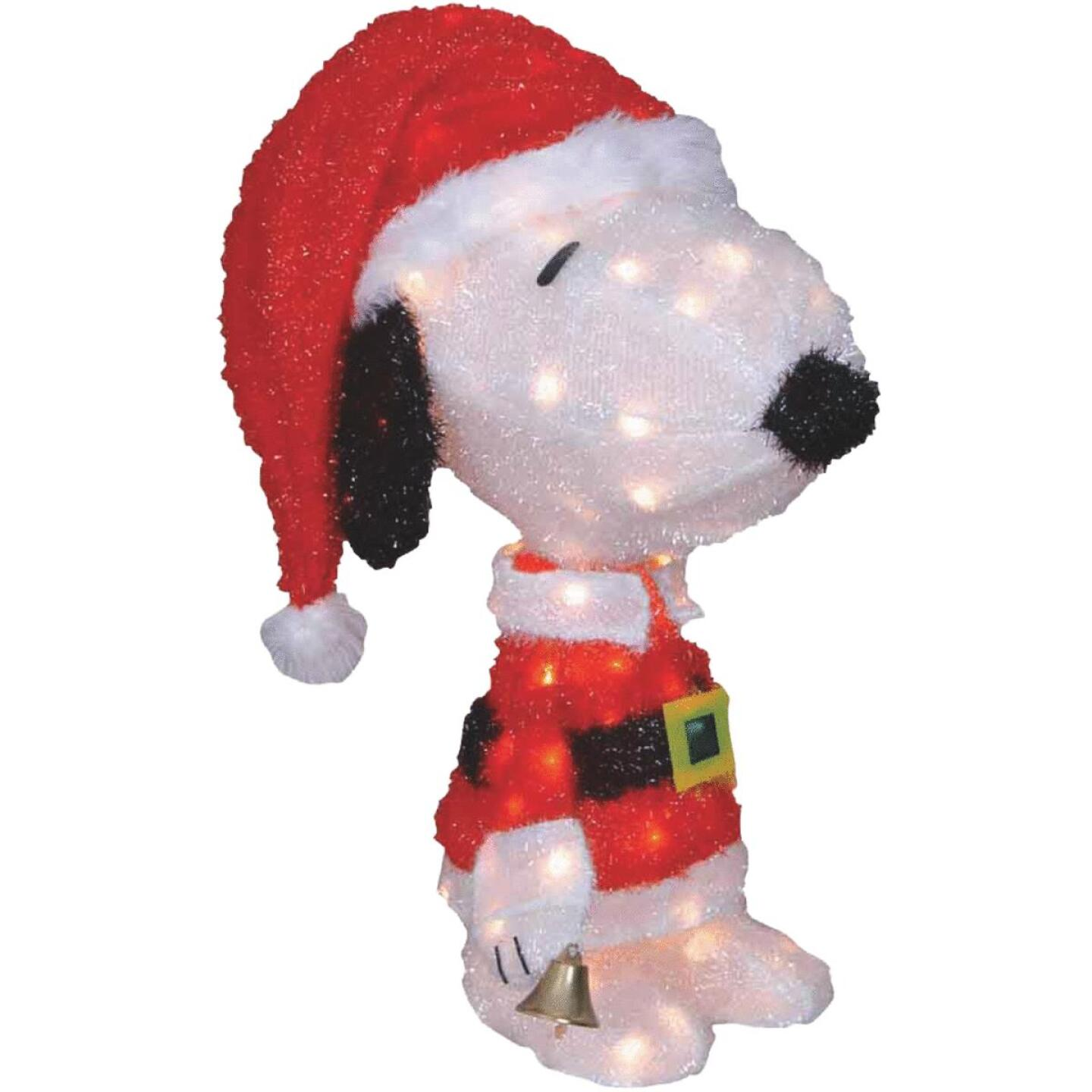 Product Works 26 In. Incandescent Illuminated Santa Snoopy Holiday Figure Image 1