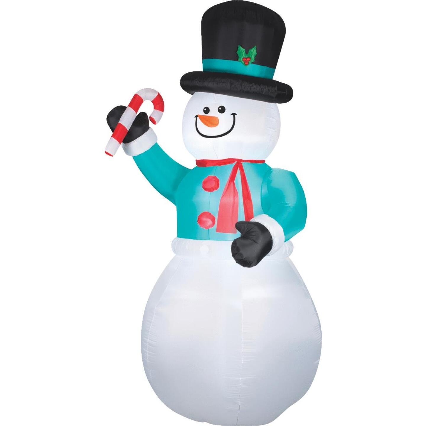 Gemmy 6 Ft. W. x 12 Ft. H. Airblown Inflatable Snowman Image 1