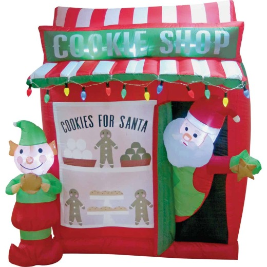 Southern Joy 6 Ft. Santa Cookie Shop Airblown Inflatable