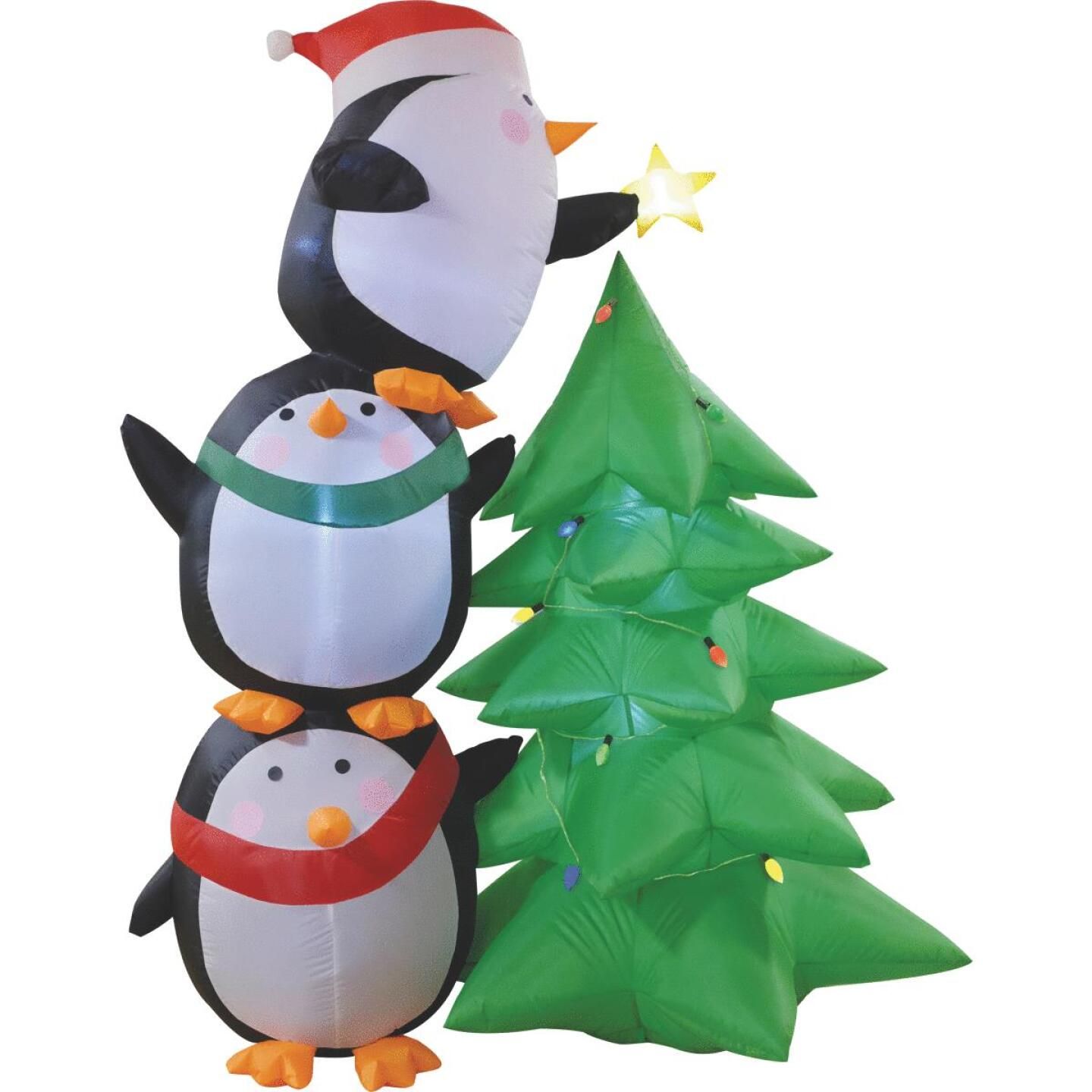 Southern Joy 7 Ft. Penguin Trim the Tree Airblown Inflatable Image 1