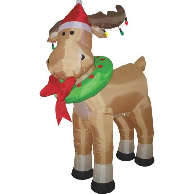 Southern Joy 6 Ft. Standing Moose Airblown Inflatable